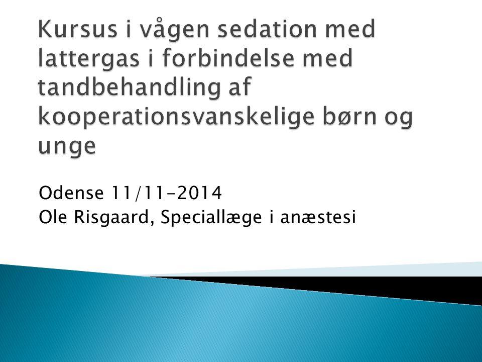 Odense 11/11-2014 Ole Risgaard, Speciallæge i anæstesi