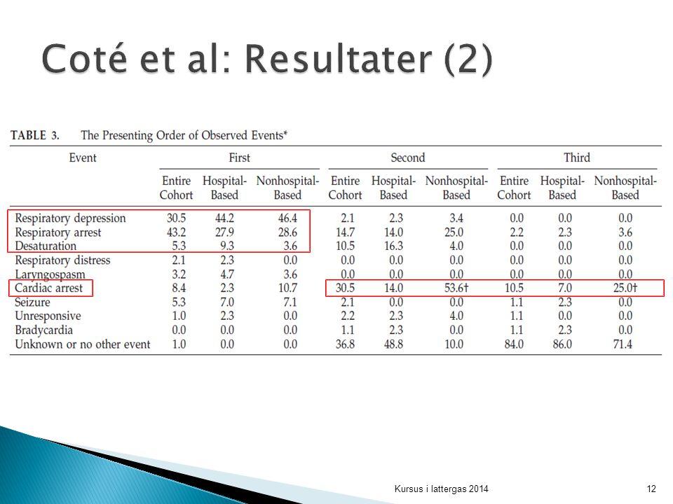 Coté et al: Resultater (2)
