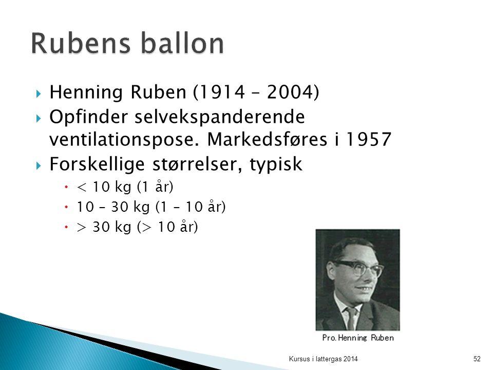 Rubens ballon Henning Ruben (1914 – 2004)