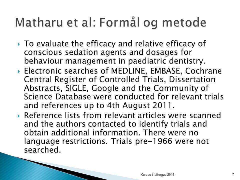 Matharu et al: Formål og metode