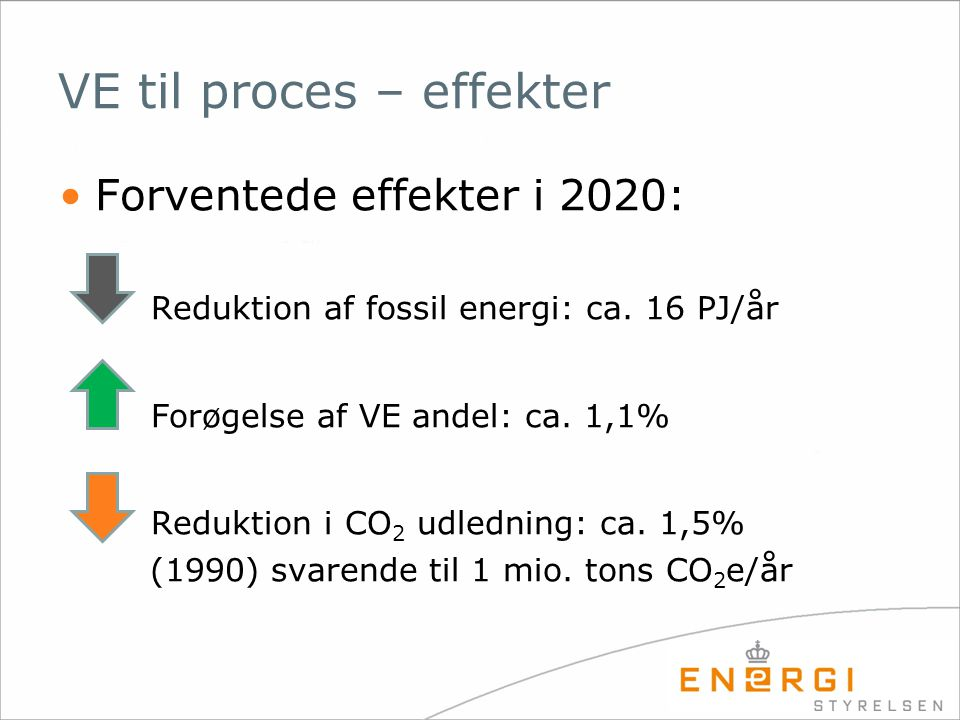 VE til proces – effekter