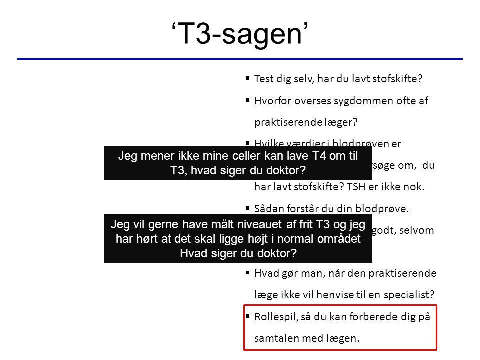 'T3-sagen' Test dig selv, har du lavt stofskifte