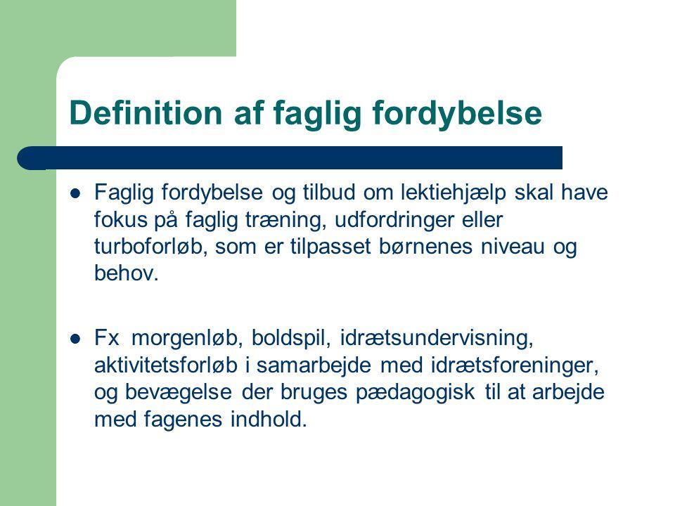 Definition af faglig fordybelse