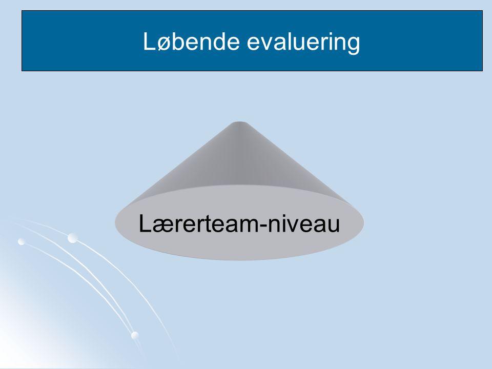 Løbende evaluering Lærerteam-niveau