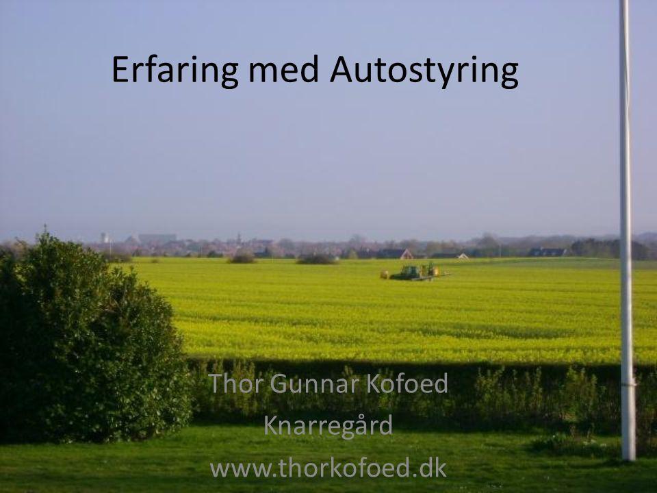 Erfaring med Autostyring