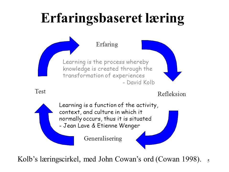 Erfaringsbaseret læring