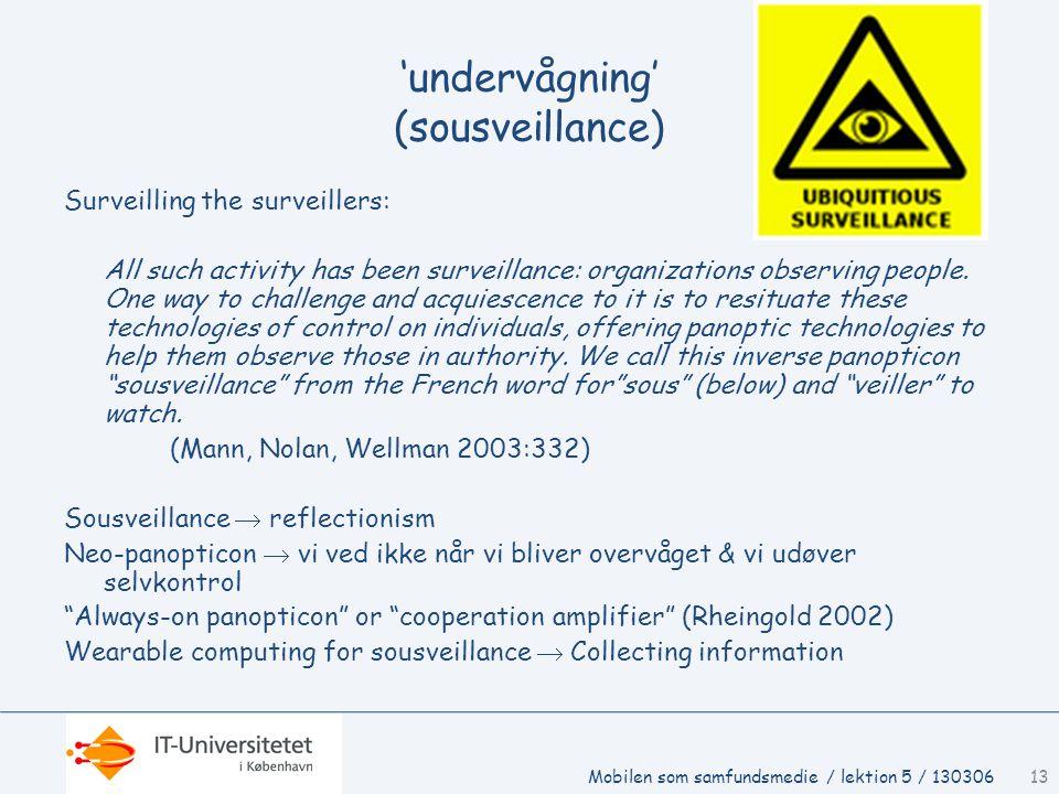 'undervågning' (sousveillance)