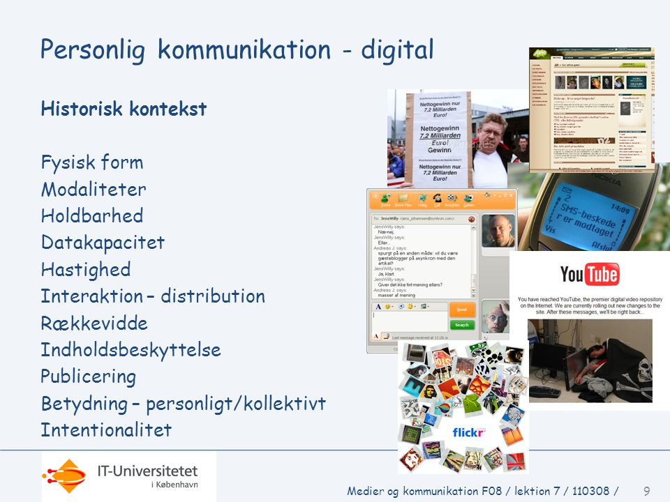 Personlig kommunikation - digital