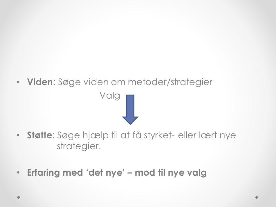 Viden: Søge viden om metoder/strategier