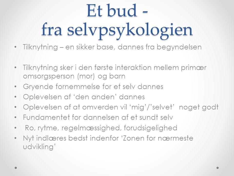 Et bud - fra selvpsykologien