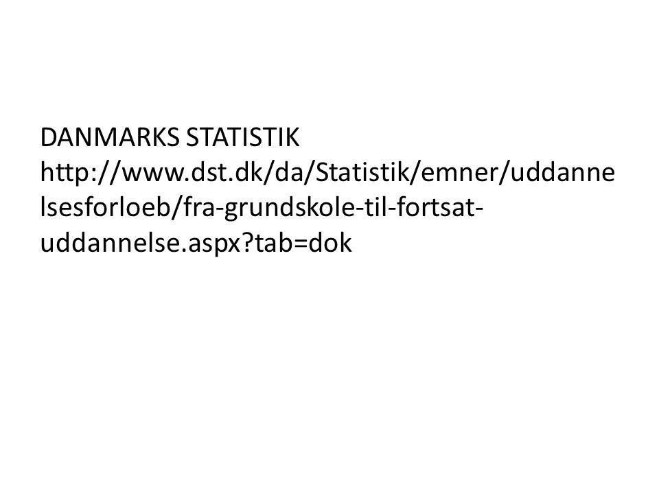 DANMARKS STATISTIK http://www. dst