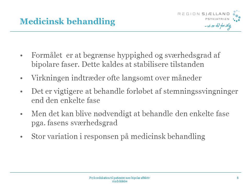 Psykoedukation til patienter mes bipolar affektiv sindslidelse