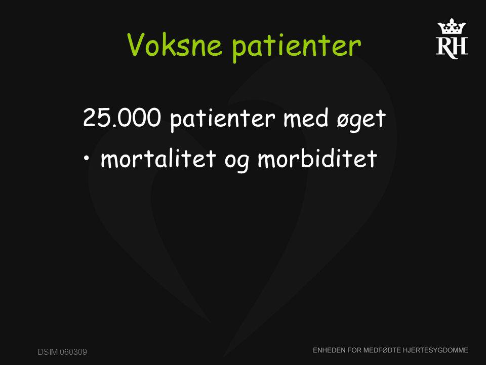 Voksne patienter 25.000 patienter med øget mortalitet og morbiditet
