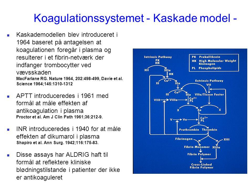 Koagulationssystemet - Kaskade model -