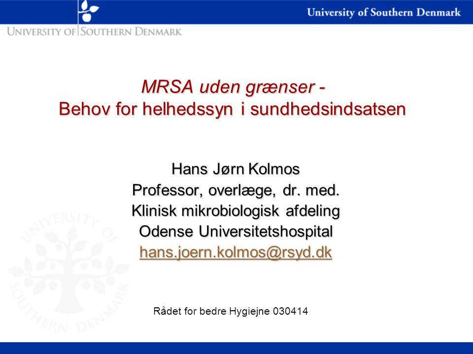 MRSA uden grænser - Behov for helhedssyn i sundhedsindsatsen