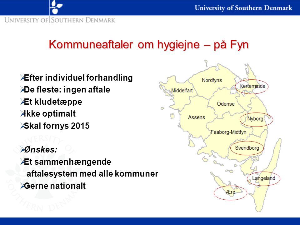Kommuneaftaler om hygiejne – på Fyn