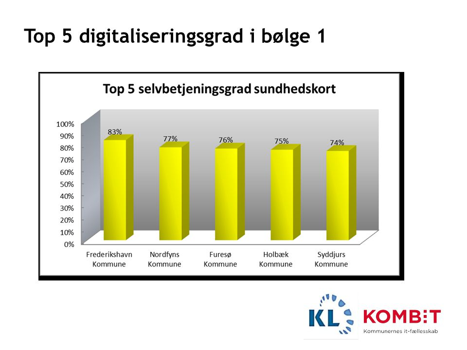 Top 5 digitaliseringsgrad i bølge 1