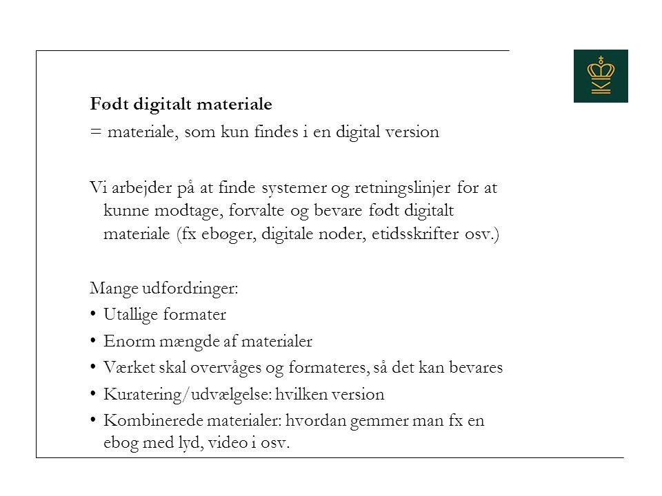 Født digitalt materiale