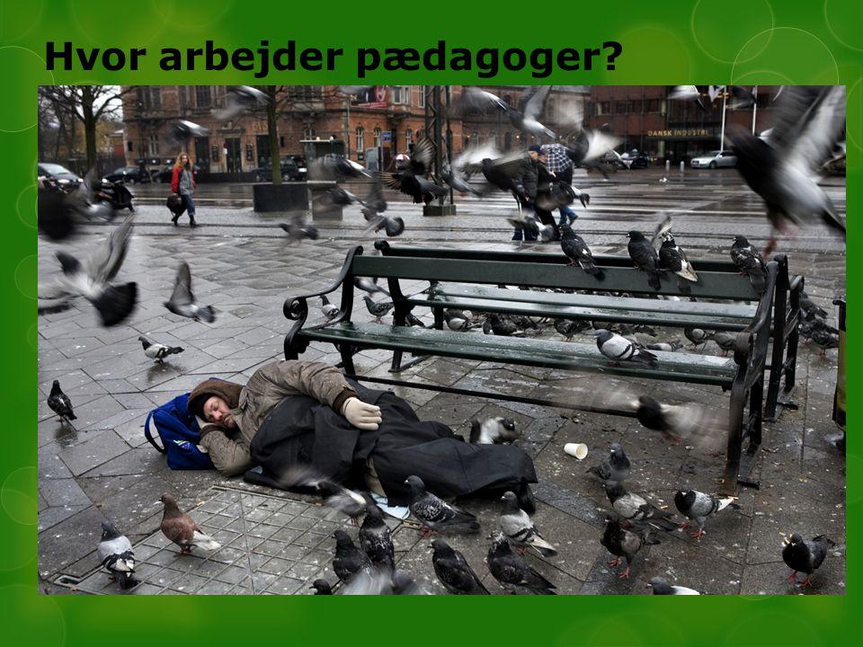 Hvor arbejder pædagoger