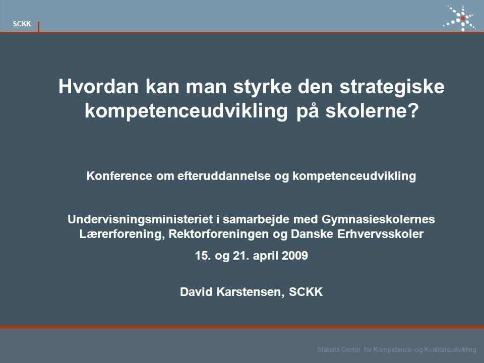 Konference om efteruddannelse og kompetenceudvikling