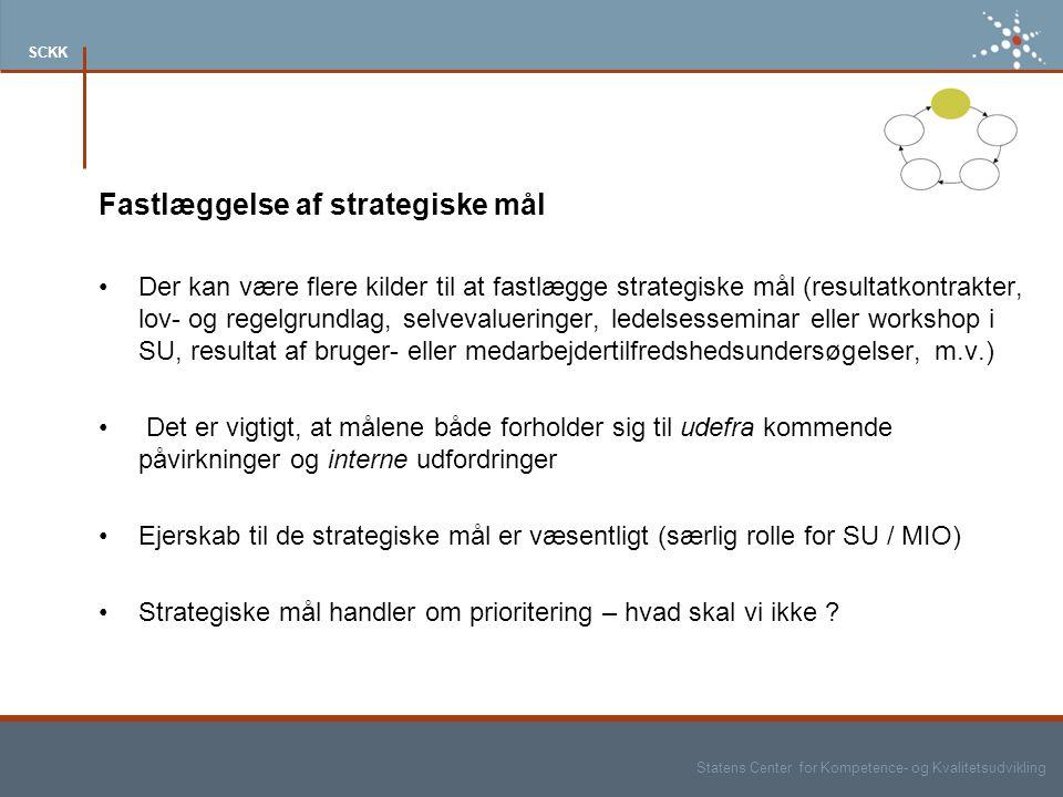Fastlæggelse af strategiske mål