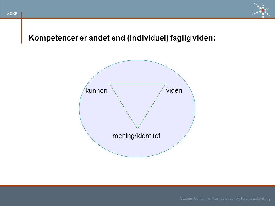 Kompetencer er andet end (individuel) faglig viden: