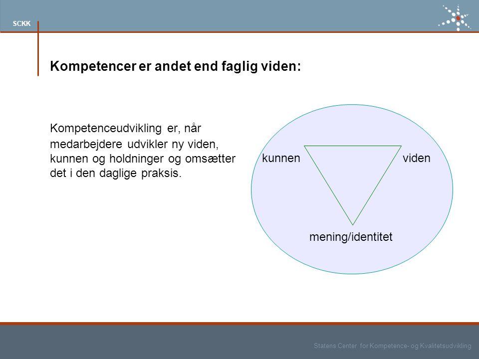 Kompetencer er andet end faglig viden: