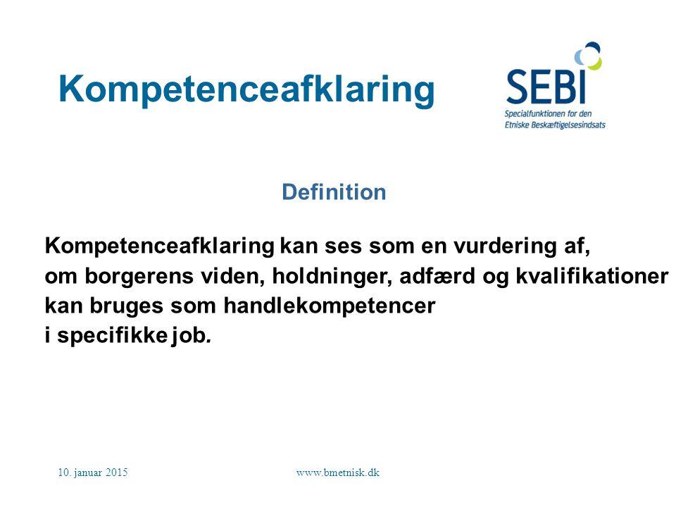 Kompetenceafklaring Definition