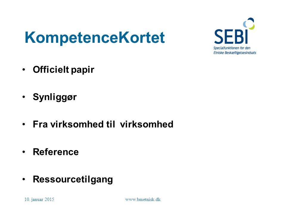 KompetenceKortet Officielt papir Synliggør