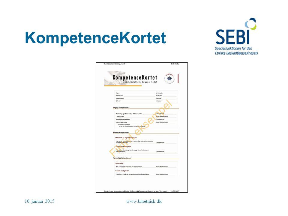 KompetenceKortet 8. april 2017 www.bmetnisk.dk