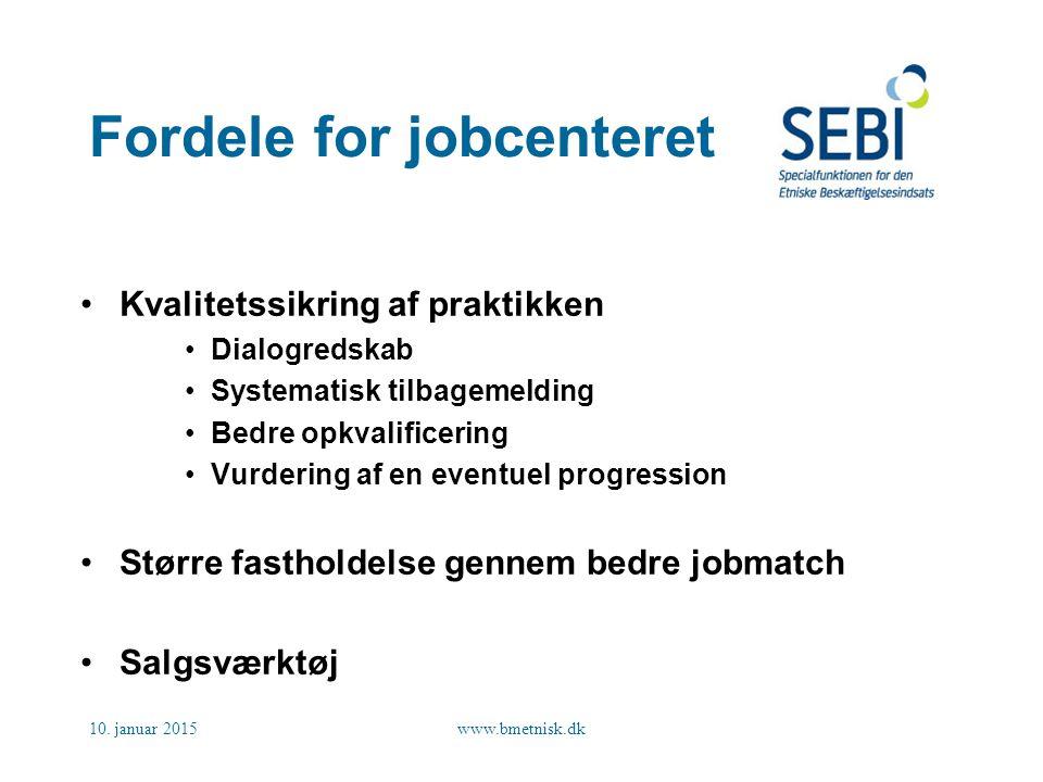 Fordele for jobcenteret
