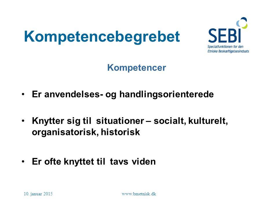 Kompetencebegrebet Kompetencer Er anvendelses- og handlingsorienterede