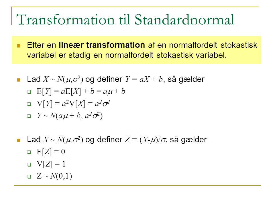 Transformation til Standardnormal