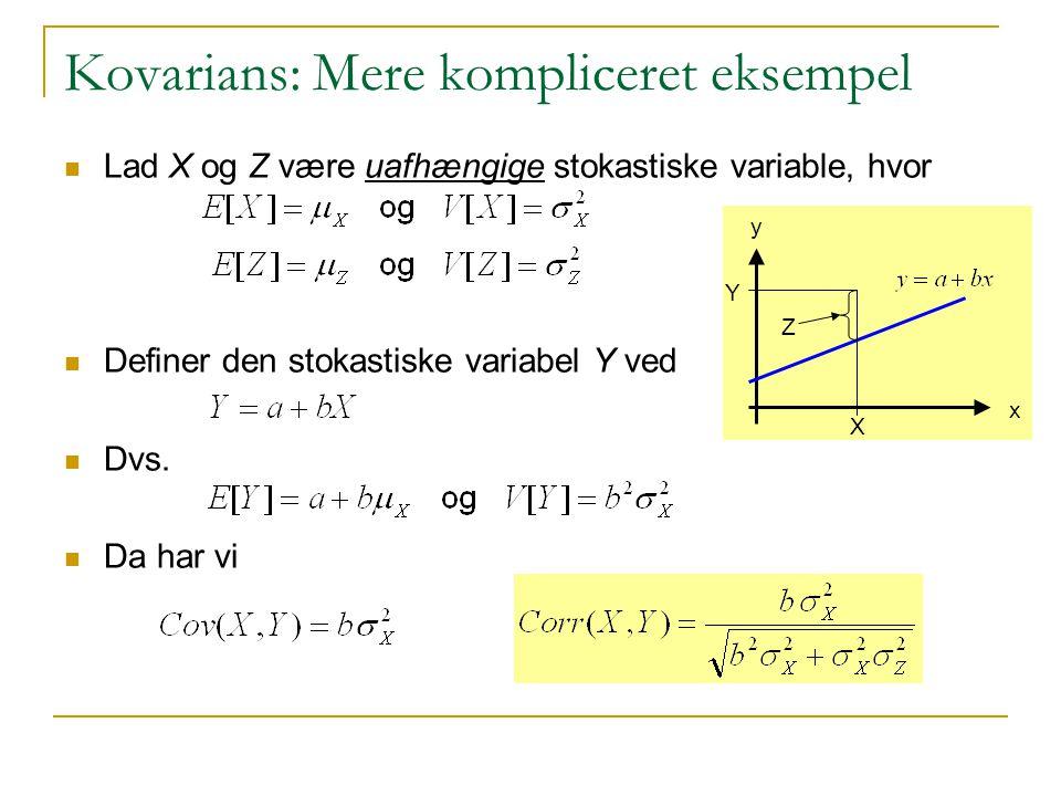 Kovarians: Mere kompliceret eksempel
