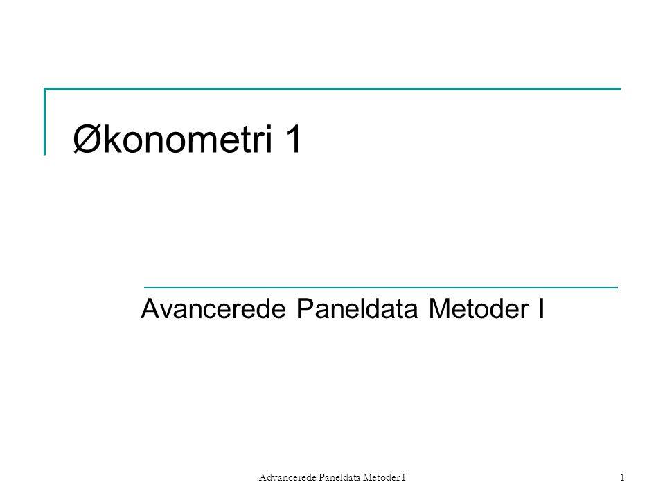 Avancerede Paneldata Metoder I