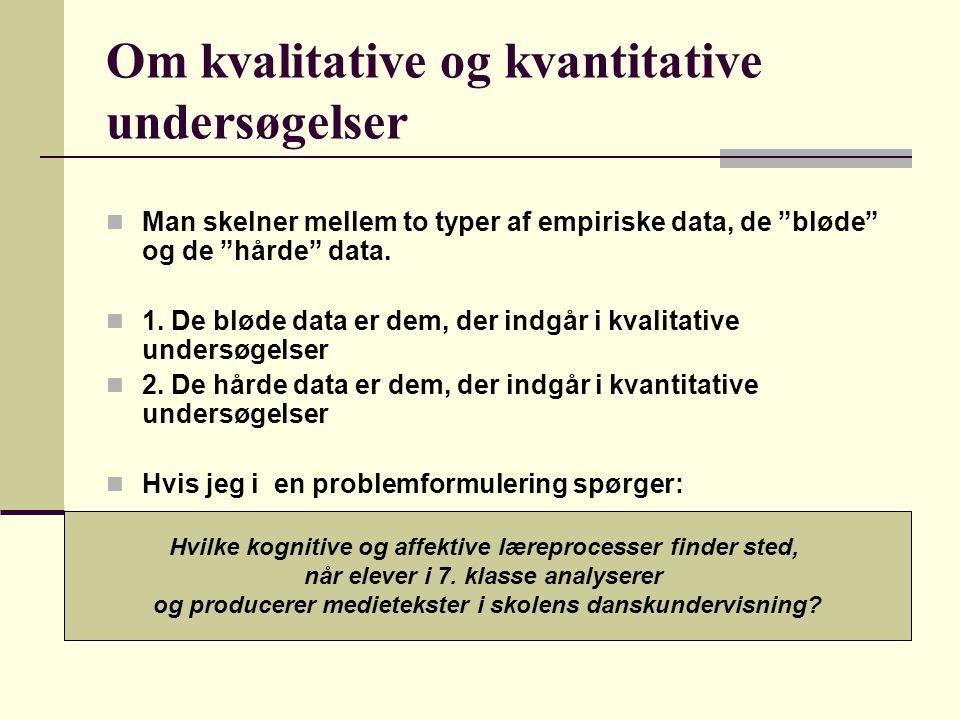 Om kvalitative og kvantitative undersøgelser