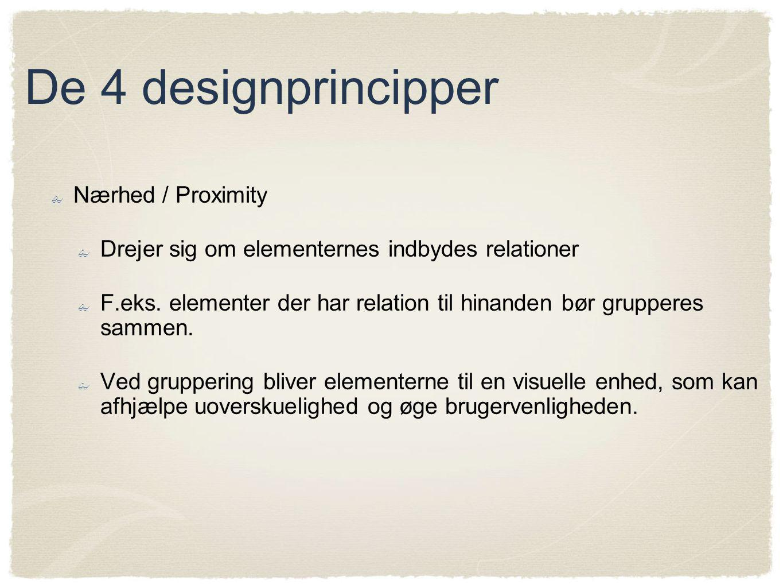 De 4 designprincipper Nærhed / Proximity