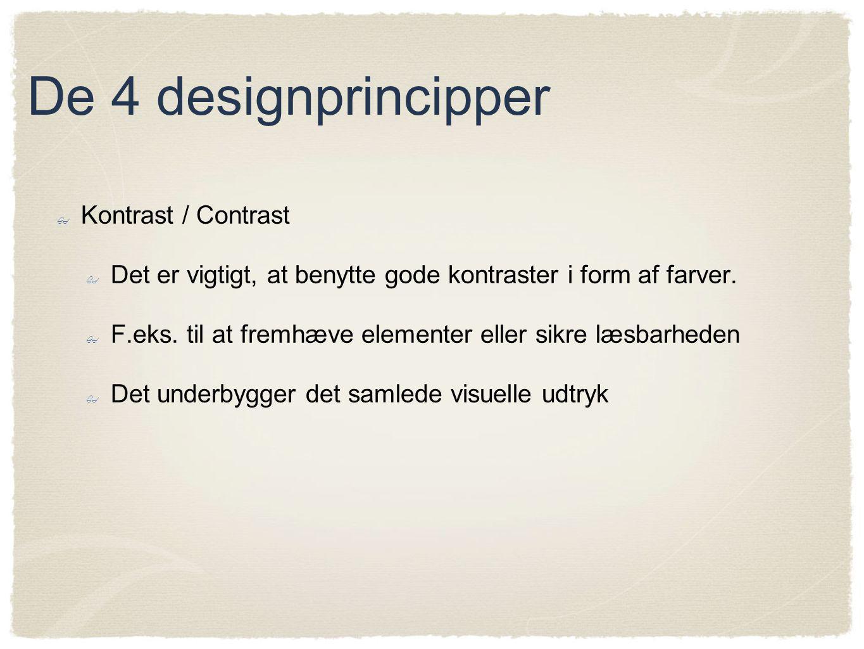 De 4 designprincipper Kontrast / Contrast