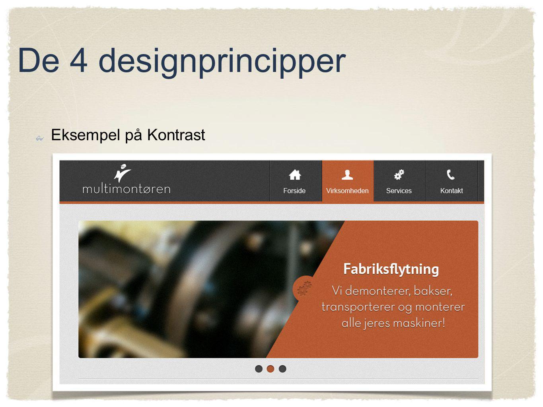 De 4 designprincipper Eksempel på Kontrast