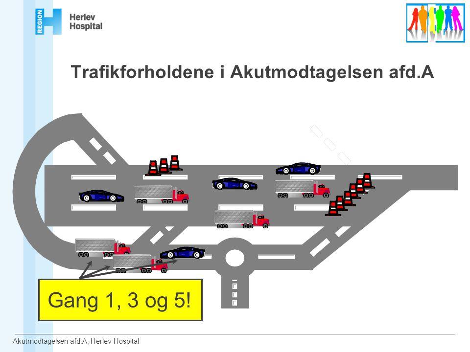 Trafikforholdene i Akutmodtagelsen afd.A