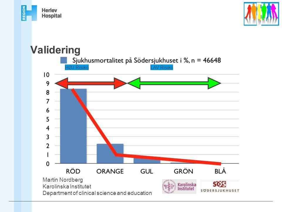 Validering Martin Nordberg Karolinska Institutet