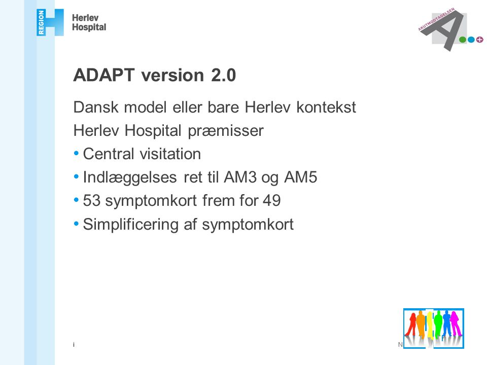 ADAPT version 2.0 Dansk model eller bare Herlev kontekst