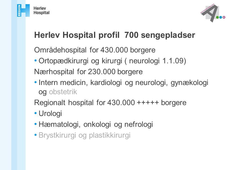 Herlev Hospital profil 700 sengepladser