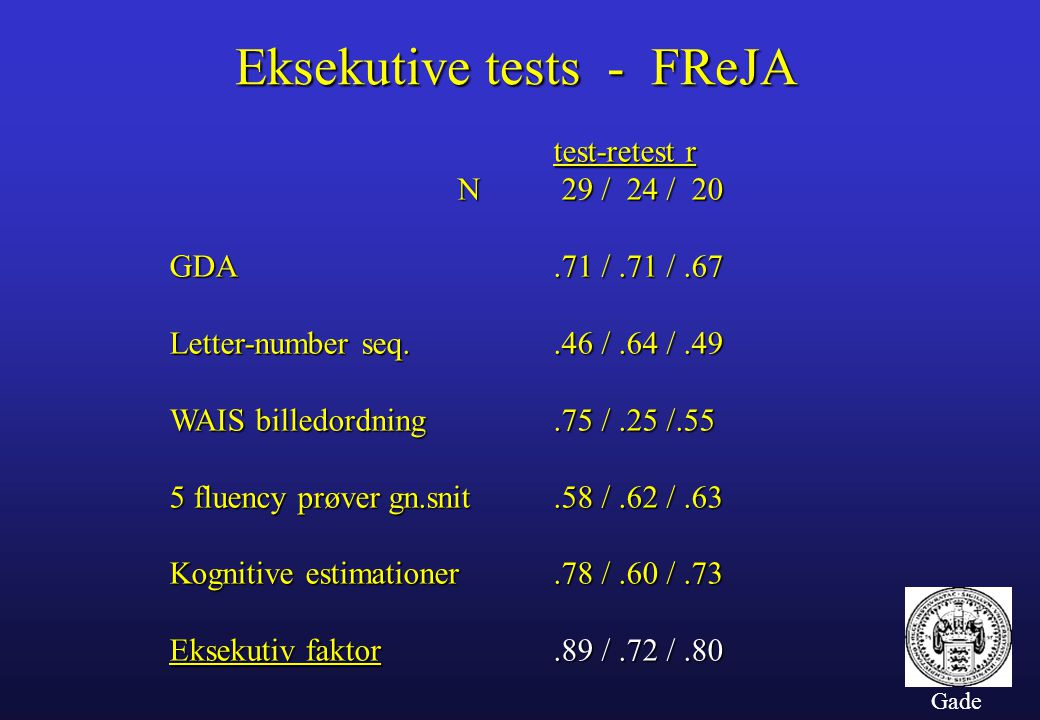 Eksekutive tests - FReJA