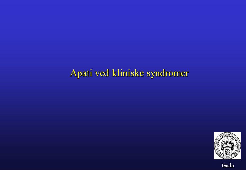Apati ved kliniske syndromer