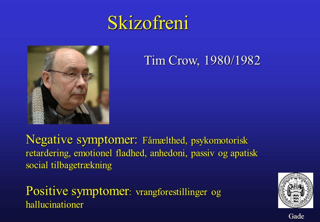 Skizofreni Tim Crow, 1980/1982.