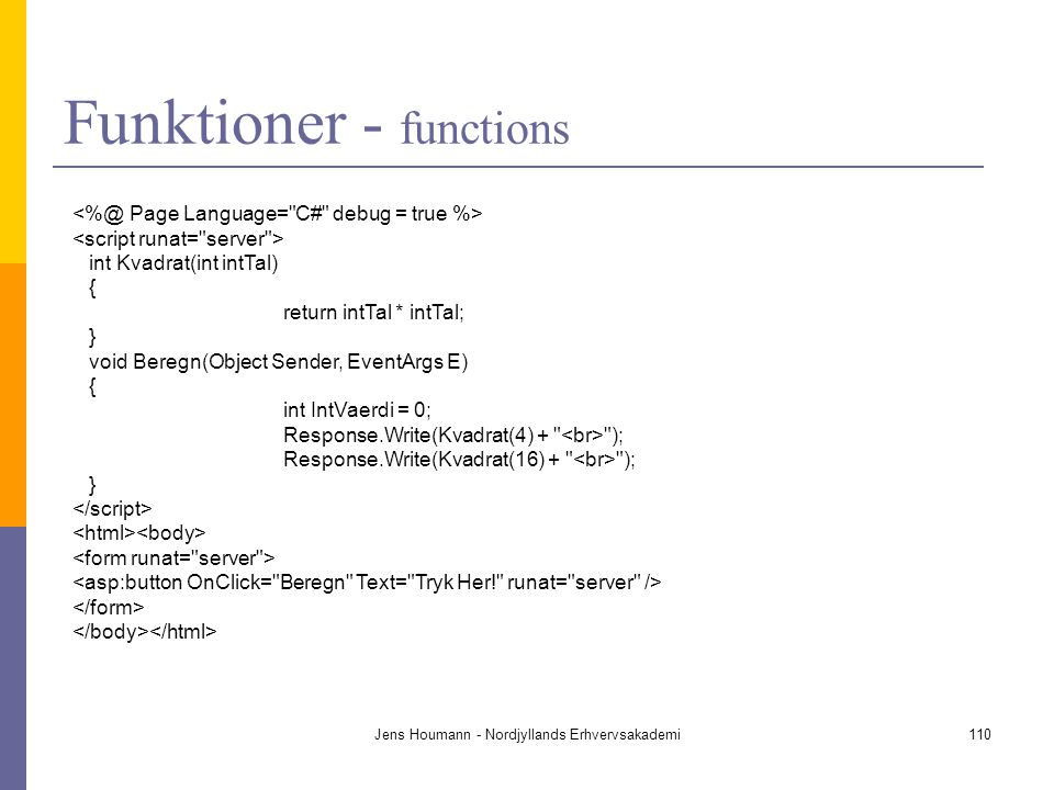 Funktioner - functions