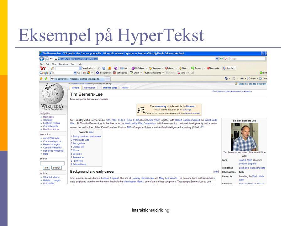 Eksempel på HyperTekst