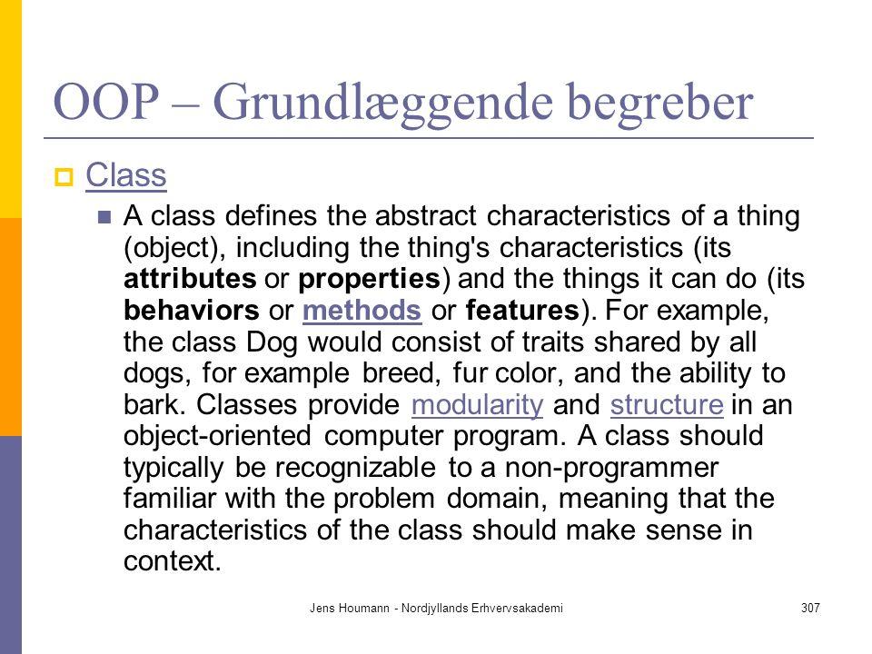 OOP – Grundlæggende begreber