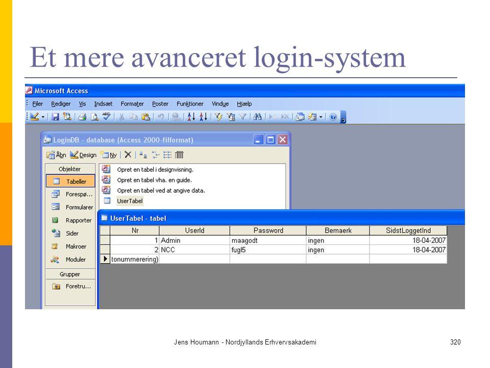 Et mere avanceret login-system